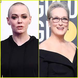 Rose McGowan Slams Meryl Streep for Wearing Black to Golden Globes 2018, Calls it a 'PR Machine Stunt'