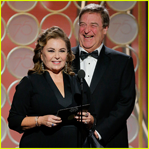 Roseanne Barr & John Goodman Reunite on Golden Globes Stage! (Video)