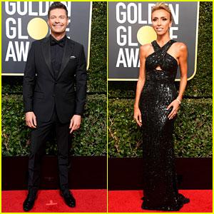 Ryan Seacrest & Giuliana Rancic Make Their Golden Globes 2018 Entrance