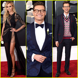 Ryan Seacrest Joins Giuliana Rancic & Brad Goreski at Grammys 2018