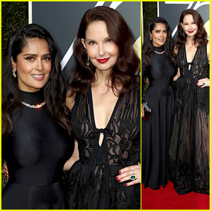 Salma Hayek & Ashley Judd Stand Strong Together at Golden Globes 2018!