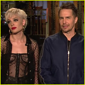 Sam Rockwell & Halsey Team Up for Hilarious 'SNL' Promo (Video)