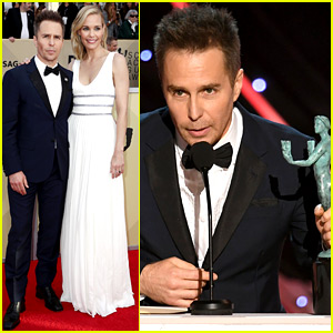 Sam Rockwell Wins at SAG Awards 2018, Joins Longtime Love Leslie Bibb on Red Carpet!
