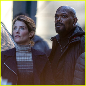 Samuel L. Jackson & Cobie Smulders Team Up Again on the Set of Upcoming Marvel Project!