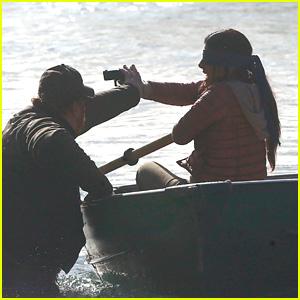Sandra Bullock Shoots a Gun in a Dramatic Scene on the Set of 'Bird Box'!