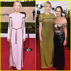 Saoirse Ronan Joins Greta Gerwig & Laurie Metcalf at SAG Awards 2018