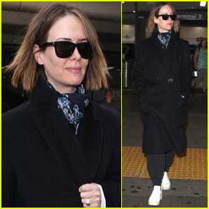 Sarah Paulson Bundles Up For Her Flight Out of LAX