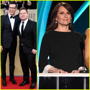 Sean Hayes & Megan Mullally Bring 'Will & Grace' to SAG Awards 2018!