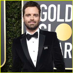 Sebastian Stan Wears His Time's Up Pin on the Red Carpet at Golden Globes 2018!