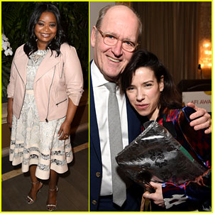 Shape of Water's Sally Hawkins, Octavia Spencer, & Richard Jenkins Join Forces at AFI Awards 2018