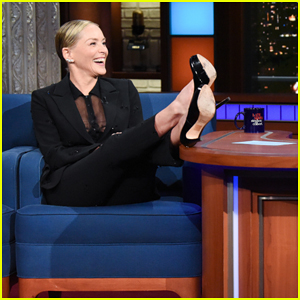 Sharon Stone Talks Fliping 'Man-Heavy' Scripts With Stephen Colbert!