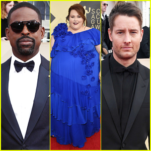 Sterling K. Brown & 'This Is Us' Co-Stars Chrissy Metz & Justin Hartley Hit Carpet at SAG Awards 2018!