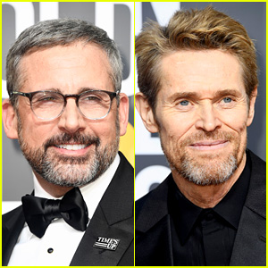 Steve Carell & Willem Dafoe Support Time's Up on the Red Carpet at Golden Globes 2018!