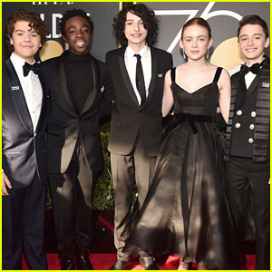 'Stranger Things' Kids Hit the Golden Globes 2018 Red Carpet