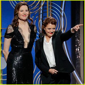 Susan Sarandon & Geena Davis Have 'Thelma & Louise' Reunion at Golden Globes 2018!