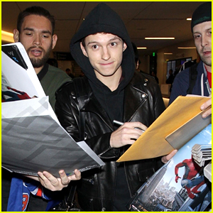 Tom Holland Gets Mobbed by Fans While Arriving at LAX!
