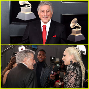 Tony Bennett Runs Into Lady Gaga on Grammys 2018 Red Carpet