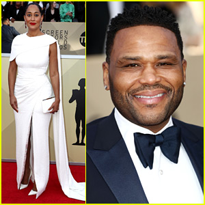 black-ish's Tracee Ellis Ross, Anthony Anderson, & More Attend SAG Awards 2018!