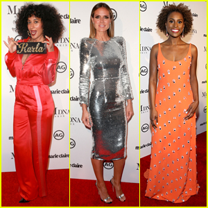 Tracee Ellis Ross, Heidi Klum, & Issa Rae Stun at Marie Claire's Image Makers Awards