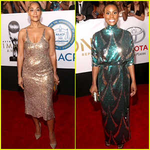 Tracee Ellis Ross & Issa Rae Bring the Sparkles to NAACP Image Awards 2018!