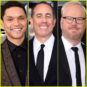 Trevor Noah Joins Jerry Seinfeld & Jim Gaffigan at Grammys 2018
