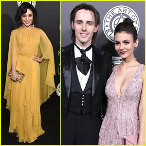 Vanessa Hudgens Joins Victoria Justice & Boyfriend Reeve Carney at Art of Elysium Gala