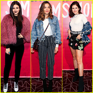 Victoria Justice & Georgie Flores Watch 'Love, Simon' at Just Jared's Special Screening!
