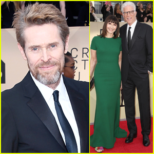 Willem Dafoe Joins Ted Danson & Wife Mary Steenburgen at SAG Awards 2018
