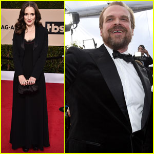 Winona Ryder & David Harbour Step Out at SAG Awards 2018!