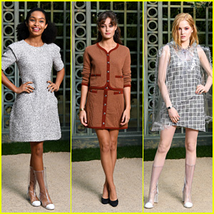 Yara Shahidi, Ella Purnell & Ellie Bamber Look Chic at Chanel Spring Summer 2018 Fashion Show!