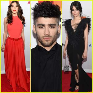 Zayn Malik Joins Hailee Steinfeld & Camila Cabello at Pre-Grammys Party