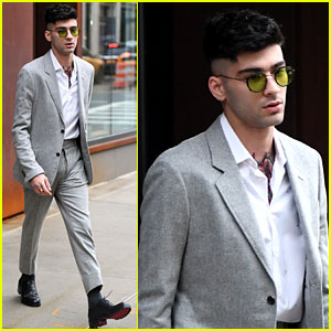 Zayn Malik Leaves Gigi Hadid's Apartment Looking Dapper