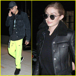 Zayn Malik Rocks Neon Green Pants Leaving Gigi Hadid's Apartment