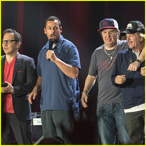 Adam Sandler is Joined at His Show by Pals Rob Schneider & David Spade!