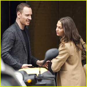 Alicia Vikander & Michael Fassbender Have a Lunch Date in Madrid