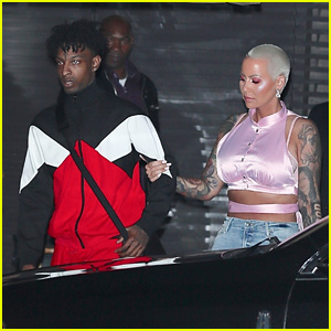 Amber Rose & 21 Savage Enjoy a Romantic Valentine's Day Dinner Date!