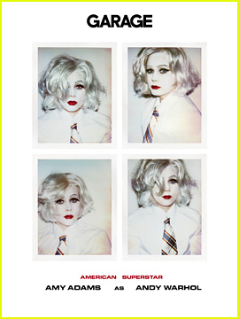 Amy Adams Dresses as Andy Warhol for 'Garage'