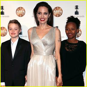 Angelina Jolie Brings Shiloh & Zahara to Annie Awards 2018