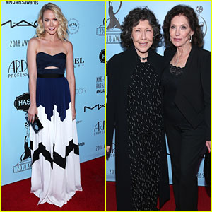 Anna Camp & Lily Tomlin Attend Makeup & Hair Stylists Guild Awards 2018