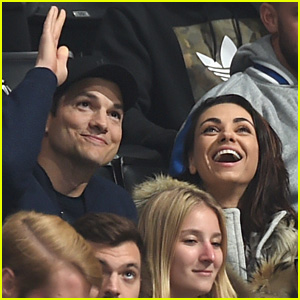 Ashton Kutcher Goes In for Steamy Kiss with Mila Kunis on Kiss Cam - Watch What Happens!