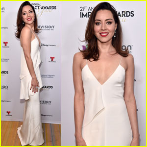 Aubrey Plaza Gets Honored at NHMC Impact Awards Gala!