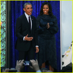 Barack & Michelle Obama Unveil Their Official Portraits at National Portrait Gallery!