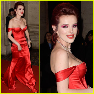 Bella Thorne Goes Red Hot for 'Midnight Sun' Premiere in Rome!