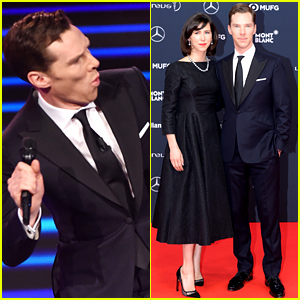 Benedict Cumberbatch Dances On Stage While Hosting the World Sports Awards
