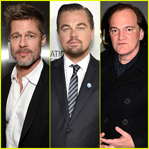 Brad Pitt & Leonardo DiCaprio Will Star in Quentin Tarantino's Manson Movie 'Once Upon a Time in Hollywood'