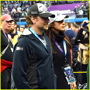 Bradley Cooper & Irina Shayk Watch Eagles Win First Super Bowl