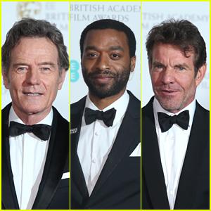 Bryan Cranston, Chiwetel Ejiofor & Dennis Quaid Arrive at BAFTAs 2018
