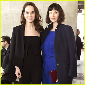 Caitriona Balfe & Michelle Dockery Sit Front Row at Roland Mouret Show