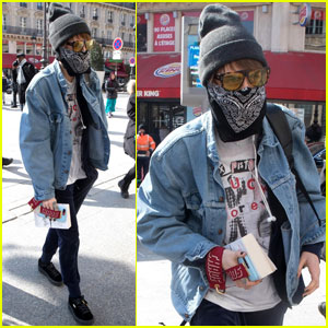 Cara Delevingne Keeps Totally Covered Up During Paris Fashion Week