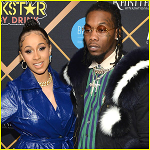 Cardi B & Fiance Offset Couple Up for Pre-Super Bowl Party